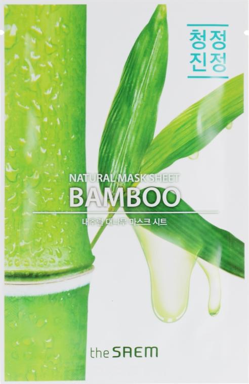 Тканевая маска для упругости кожи с экстрактом бамбука - The Saem Natural Bamboo Mask Sheet