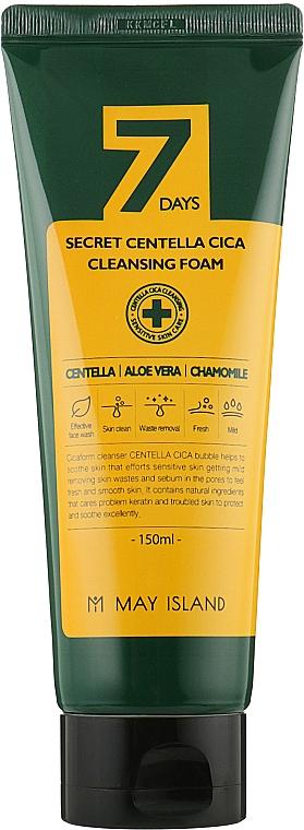 Очищающая пенка для проблемной кожи лица с экстрактом центеллы - May Island 7 Days Secret Centella Cica Cleansing Foam