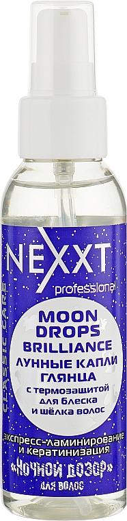 Лунные капли глянца с термозащитой для блеска и шелка волос - Nexxt Professional Moon Drops Brilliance