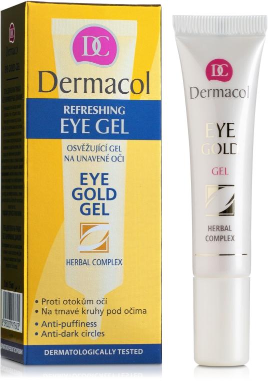 Гель для век против темных кругов под глазами - Dermacol Face Care Eye Gold Gel
