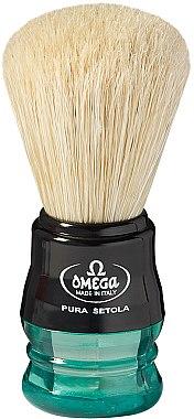 Помазок для бритья, 10077, зеленый - Omega — фото N1