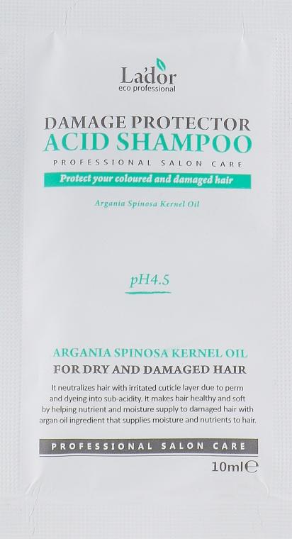 Бесщелочной шампунь для поврежденных волос - La'dor Damage Protector Acid Shampoo (пробник)