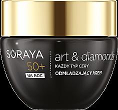 Духи, Парфюмерия, косметика Омолаживающий ночной крем для лица - Soraya Art&Diamonds Rejuvenating Face Cream 50+