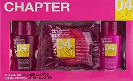 """Парфумерія, косметика Косметичний набір для тіла """"Лічі і лотос"""" - Mades Cosmetics Chapter Kit (sh/gel/100ml + b/lot/100ml + soap/50ml)"""