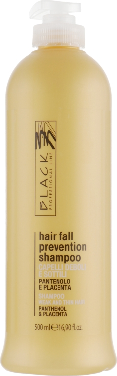 Шампунь против выпадения волос с пантенолом и плацентой - Black Professional Line Panthenol & Placenta Shampoo