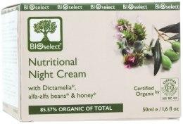 Духи, Парфюмерия, косметика Ночной питательный крем от морщин с Диктамелией, маслом авокадо и мёдом - BIOselect Nutritional Night Cream