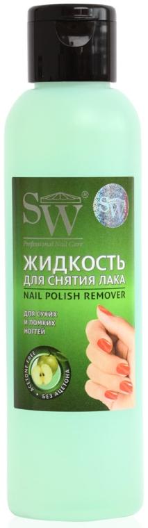 Жидкость для снятия лака для сухих и ломких ногтей c экстрактом яблока - SW Nail Polish Remover