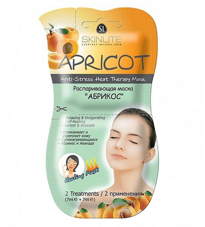 """Распаривающая маска """"Абрикос"""" - Skinlite Apricot Anti-Stress Heat Therapy Mask"""