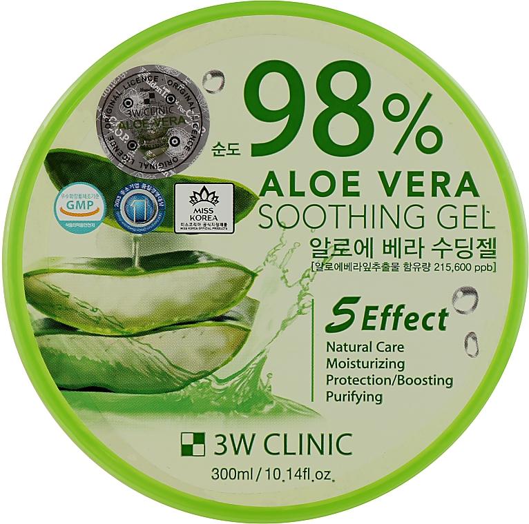 Гель с алоэ 98% - 3W Clinic Aloe Vera Soothing Gel