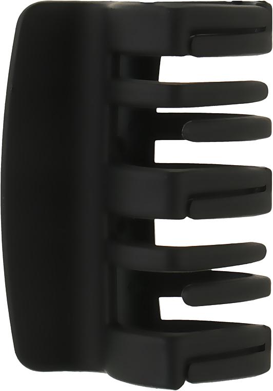 """Крабик для волос средний """"Прямоугольный"""", HA-1243, черный - La Rosa"""