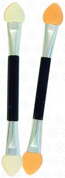 Аппликаторы для теней двусторонние SA-12, 8 см, 10шт, черные - Silver Style