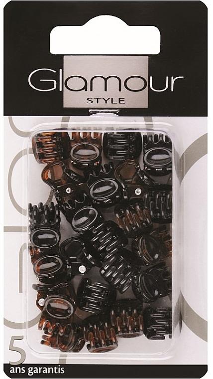 Заколки для волос, 0222, черно-коричневые - Glamour