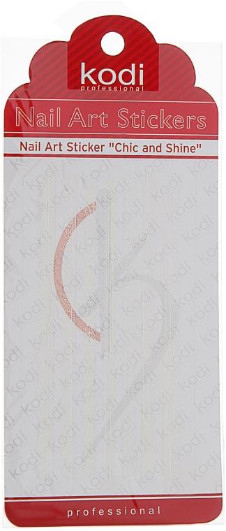 Наклейка для дизайна ногтей - Kodi Professional Nail Art Stickers FL009