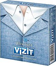 """Парфумерія, косметика Презервативи """"Ultra light"""", ультратонкі, 3 шт - Vizit"""