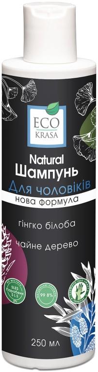 """Натуральный мужской шампунь """"Гинкго-билоба и чайное дерево"""" - Eco Krasa"""