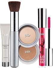Духи, Парфюмерия, косметика Набор - Pur Minerals Best Sellers Starter Kit Light (primer/10ml+found/4.3g+bronzer/3.4g+mascara/5g+brush)