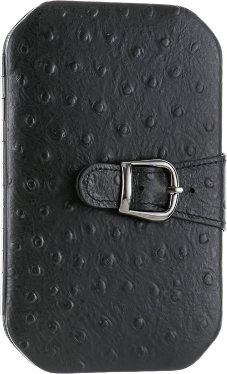 Набор маникюрный 11 предметов, черный, MS-140 - Zauber Premium