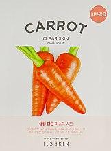 Духи, Парфюмерия, косметика Тканевая маска - It's Skin The Fresh Carrot Mask Sheet