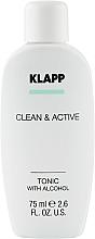 Духи, Парфюмерия, косметика Тоник для лица - Klapp Clean & Active Tonic with Alcohol