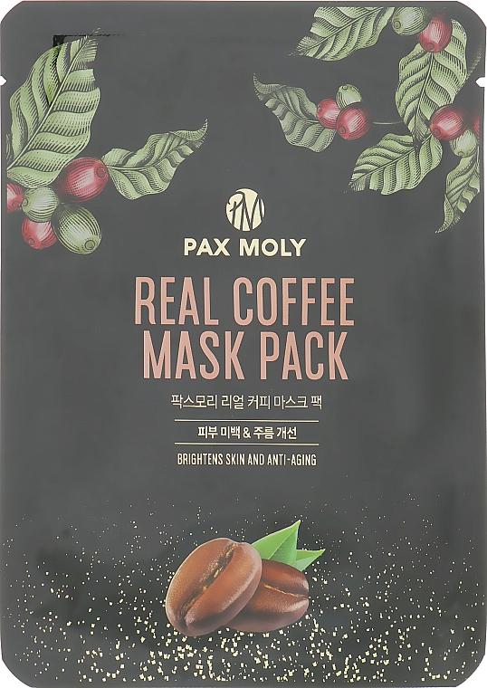 Маска тканевая с экстрактом кофе - Pax Moly Real Coffee Mask Pack
