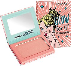 Духи, Парфюмерия, косметика Хайлайтер для лица - Misslyn Glow For It! Strobing Powder