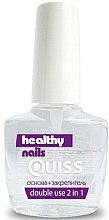 Духи, Парфюмерия, косметика Основа + закрепитель 2в1 - Quiss Healthy Nails №5 Double Use 2in1