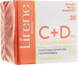 Духи, Парфюмерия, косметика Осветляющий крем-гель для лица - Lirene C + D Pro Vitamin Energy