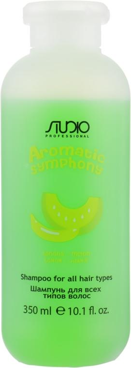 Шампунь для всех типов волос банан и дыня - Kapous Professional Studio Shampoo Banana and Melon