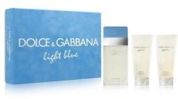 Духи, Парфюмерия, косметика Dolce&Gabbana Light Blue Set - Набор (edt 100ml + b/cream 100ml + sh/gel 100ml)