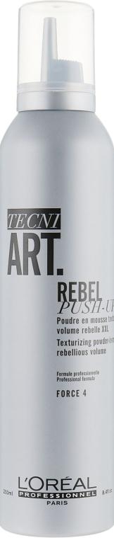 Пудровый мусс для создания текстуры и ультра-объема волос - L'Oreal Professionnel Tecni.Art Rebel Push-Up