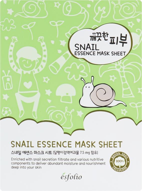Тканевая маска c улиткой - Esfolio Pure Skin Snail Essence Mask Sheet