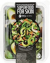 Духи, Парфюмерия, косметика Набор - Superfood Salad For Skin Skin Limp And Requiring Regeneration(mask/7x25ml)
