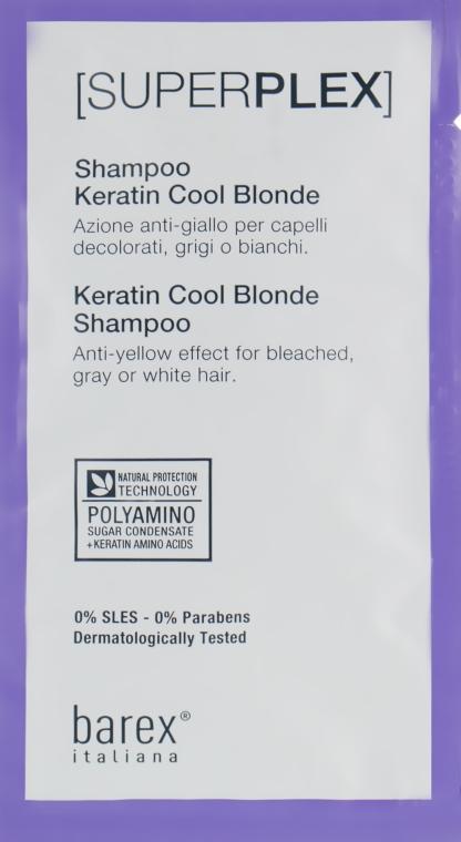 """Шампунь """"Холодный блонд"""" - Barex Italiana SuperPlex Keratin Cool Blonde Shampoo"""