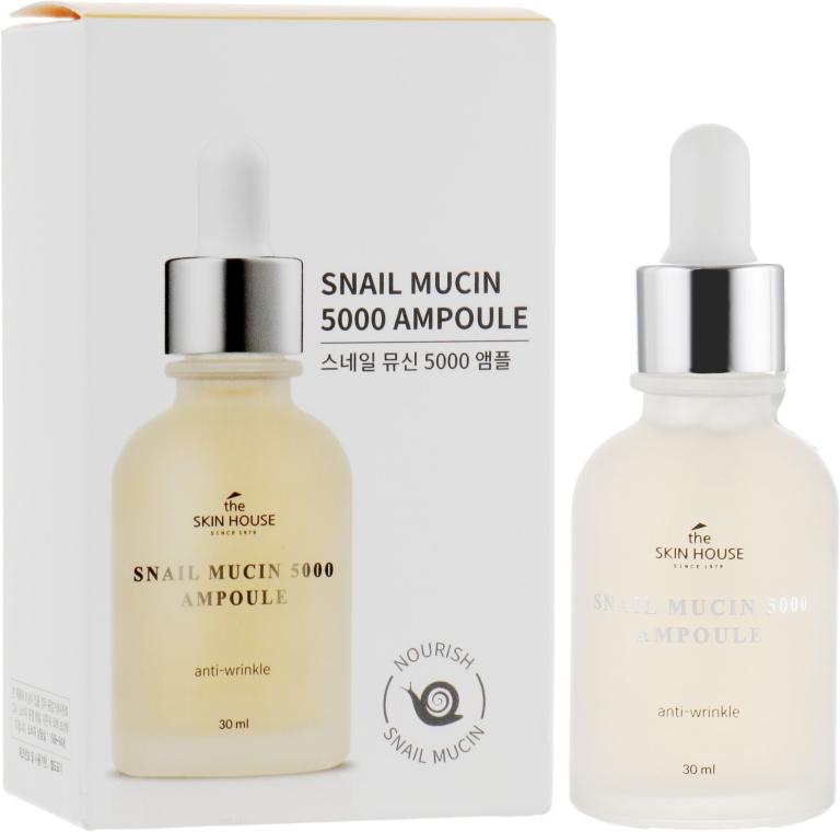 Омолаживающая ампульная сыворотка с муцином улитки и коллагеном - The Skin House Snail Mucin 5000 Ampoule