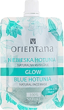"Духи, Парфюмерия, косметика Натуральная маска для лица ""Голубая хотуния"" - Orientana Blue Hotunia Glow Natural Face Mask"