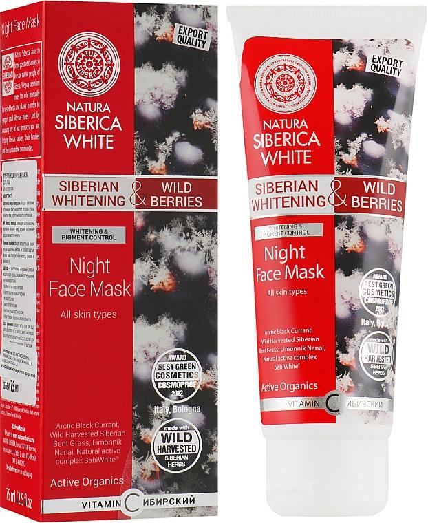 Отбеливающая ночная маска для лица - Natura Siberica White Night Mask
