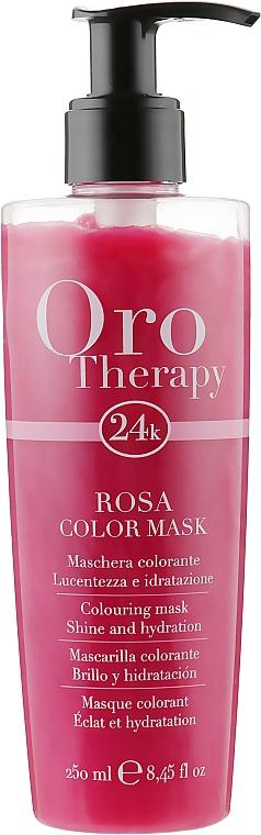 """Тонирующая маска для волос """"Розовая"""" - Fanola Oro Therapy Colouring Mask"""