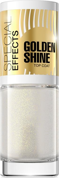 Покрытие для ногтей с золотистыми блестками №150 - Eveline Cosmetics Special Effects Golden Shine Top Coat