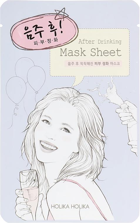 Тканевая маска после вечеринки - Holika Holika After Mask Sheet After Drinking