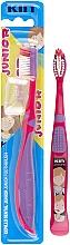 Духи, Парфюмерия, косметика Детская зубная щетка, 6-12 лет, малиново-сиреневый - Kin Toothbrush Junior