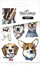 Духи, Парфюмерия, косметика Акварельные переводные тату - Miami Tattoos Puppy (mini)