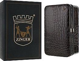 Духи, Парфюмерия, косметика Маникюрный набор MS-JB-830 G, лаковый, темно-коричневый - Zinger