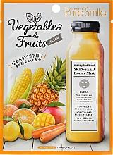 Духи, Парфюмерия, косметика Маска для лица из зеленых овощей и фруктов - Pure Smile Essence Vegetables&Fruits
