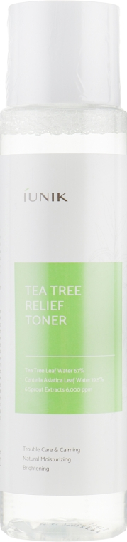 Успокаивающий тонер с чайным деревом - iUNIK Tea Tree Relief Toner