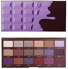 Духи, Парфюмерия, косметика Палетка теней для век, 18 оттенков - I Heart Revolution Eyeshadow Palette Violet Chocolate
