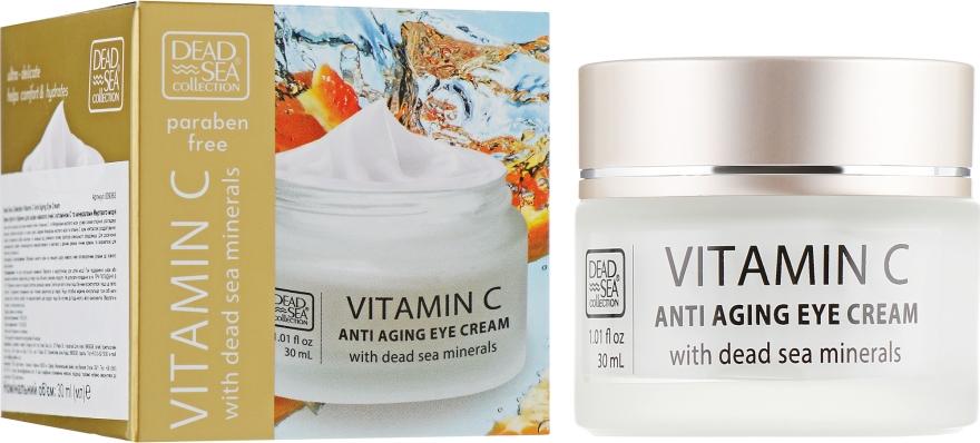 Крем против морщин для кожи вокруг глаз с витамином С и минералами Мертвого моря - Dead Sea Collection Vitamin C Eye Cream