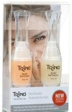 Духи, Парфюмерия, косметика Набор для защиты и восстановления ногтей с кератином - Trind Keratin Treatment Set (prot/9ml + res/9ml)