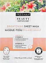 """Духи, Парфюмерия, косметика Тканевая маска для лица """"Гибискус и витамин С"""" - Freeman Beauty Infusion Brightening Sheet Mask"""
