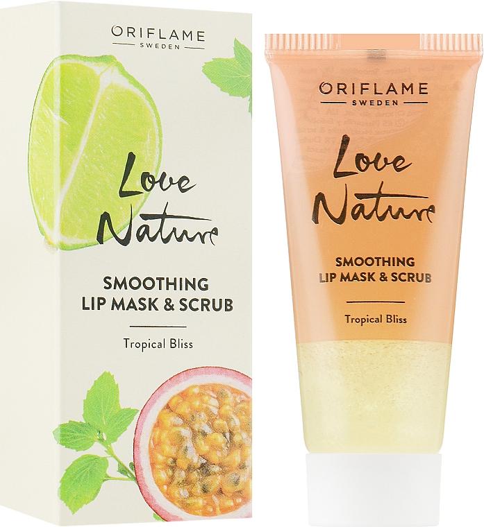 Сахарная маска-скраб для губ 2 в 1 с мятой и лаймом - Oriflame Love Nature Smoothing Lip Mask & Scrub