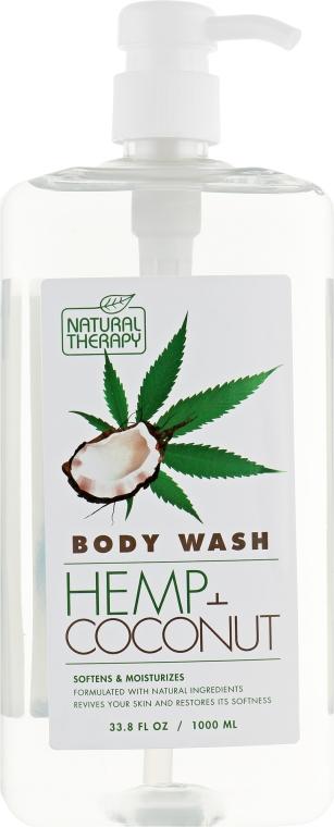 Гель для душа с экстрактом конопли и маслом кокоса - Natural Therapy Hemp + Coconut Body Wash